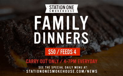Now Offering $50 Family Dinners