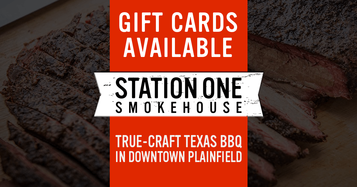 Gift Cards available at Station One Smokehouse Plainfield BBQ
