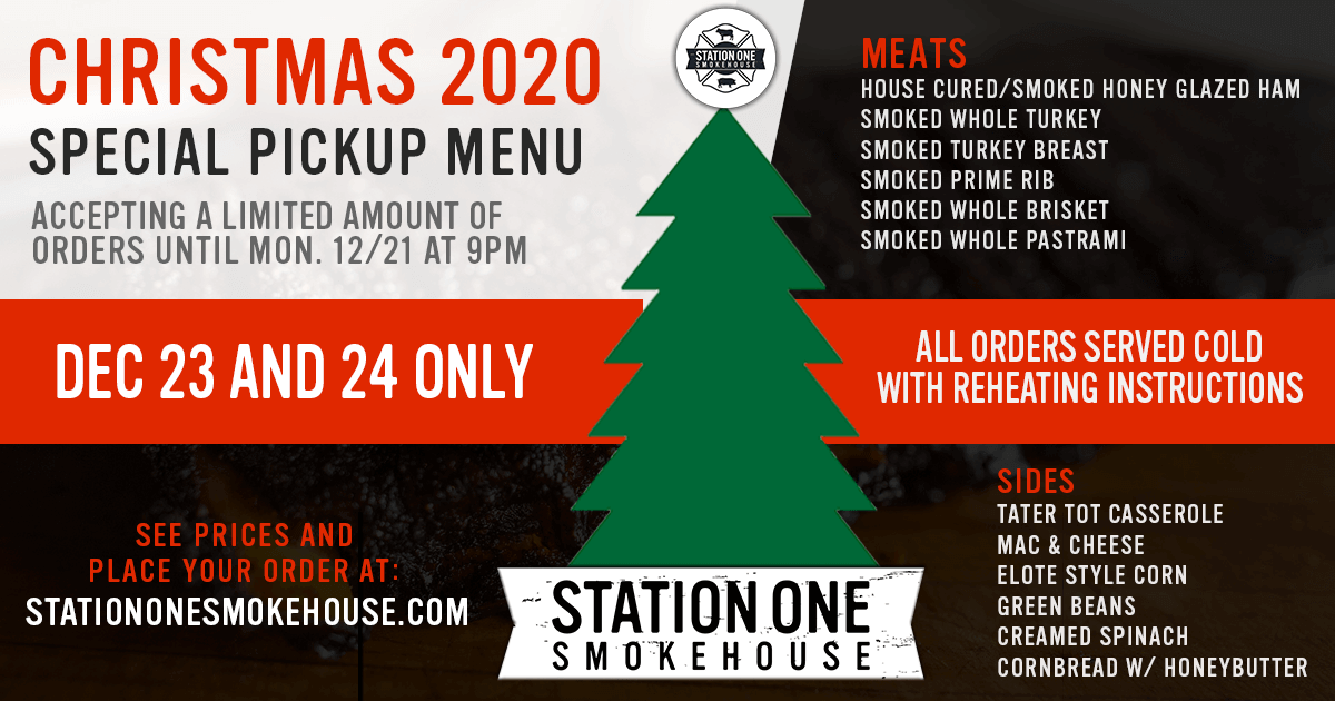Christmas 2020 Special Menu Now Available
