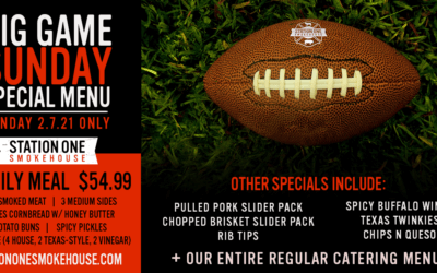 Superbowl Sunday 2021 Special Menu is now Available!
