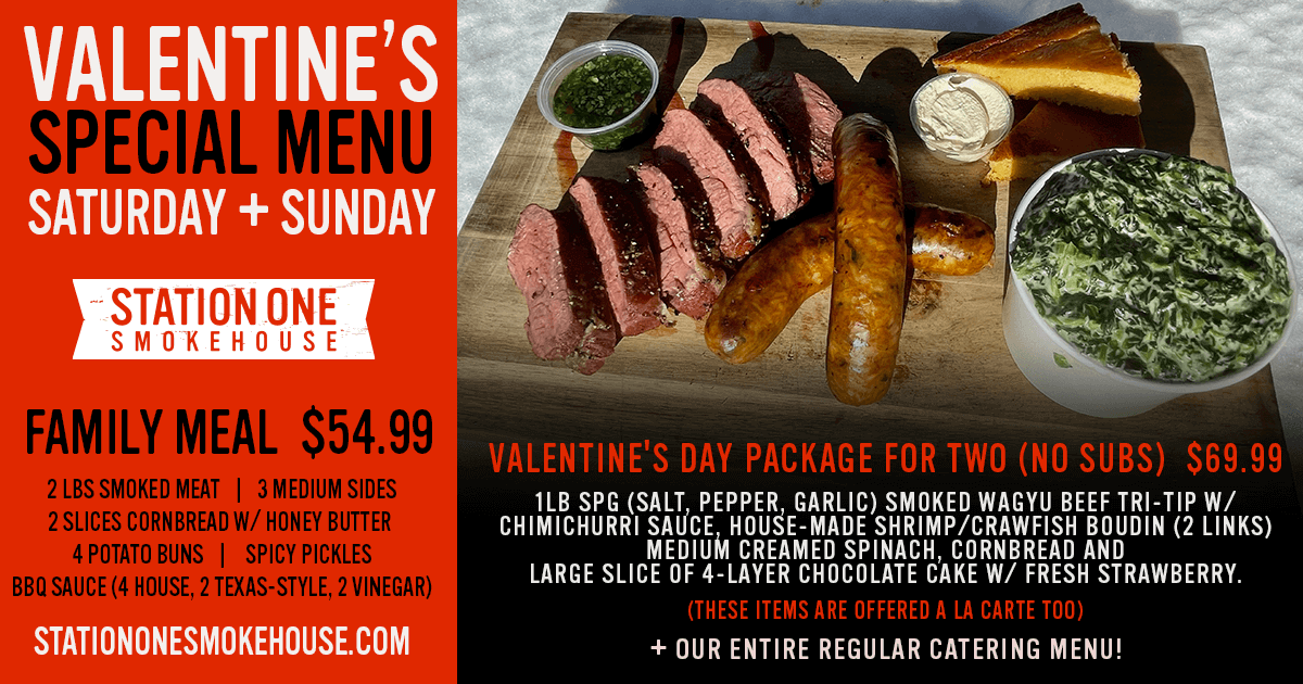 Valentine's Day Weekend Special Menu is now Available!