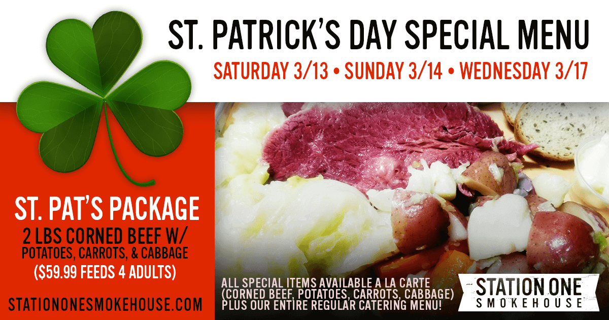 St. Patrick's Day Special Menu is now Available!